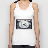 korea Tank Tops featuring Flag of Korea by lanjee