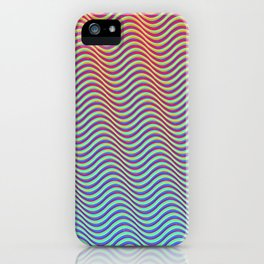 Waves 1A (hot to cold) iPhone Case