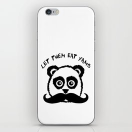 Funny Mustache Panda Let Them Eat Yams iPhone Skin