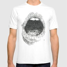 Lips Mens Fitted Tee 2X-LARGE White