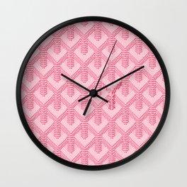Goyard Pink Wall Clock