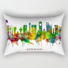 Jeddah Saudi Arabia Skyline Rectangular Pillow