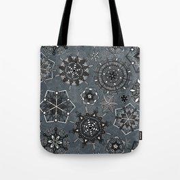 mandala snowflakes metal Tote Bag