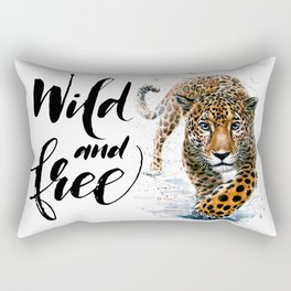 Leopard Wild and Free Rectangular Pillow