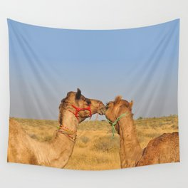 Animal love, Rajasthan, India Wall Tapestry