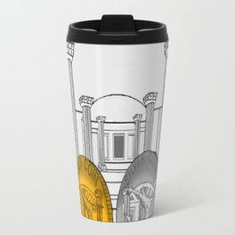 Necropolis Coins Gold and Silver Travel Mug