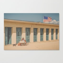 This is my spot...(retro) Canvas Print