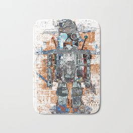 Awesome Giant Robot with Cat Bath Mat