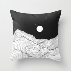 Lines in the mountains II Throw Pillow