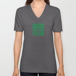 Irish more irish Cillian name gift St Patricks Unisex V-Neck