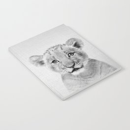 Baby Lion - Black & White Notebook
