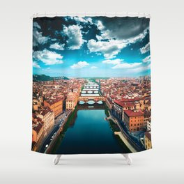 ponte vecchio in florence Shower Curtain