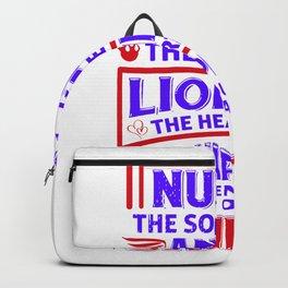 Nurse The Soul Of An Angel - Nurse Design Backpack