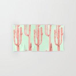 Cactus Stack Pink + Mint Hand & Bath Towel