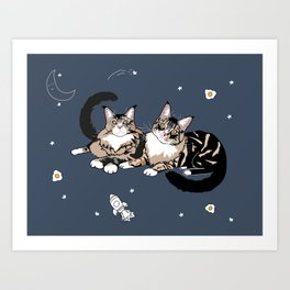 Space Cats Art Print
