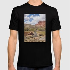 Capitol Reef Black Mens Fitted Tee LARGE