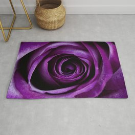 Purple Rose Flower Rug