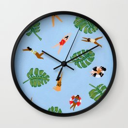 Floating in the sea Wall Clock