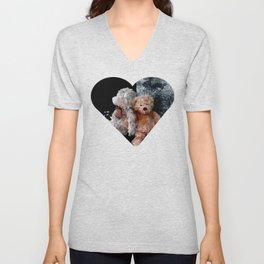Teddy Bear Buddies Unisex V-Neck