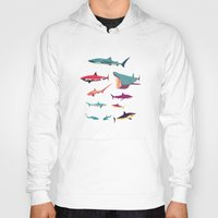 sharks Hoodies featuring Sharks by Simon Alenius