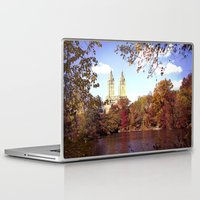 central park Laptop & iPad Skins featuring central park by Penny Pixel