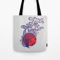 cabin pressure Tote Bags featuring Cabin by Devin Soisson