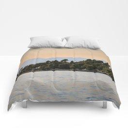 Evening Beckons Over The Lerins Islands Comforters