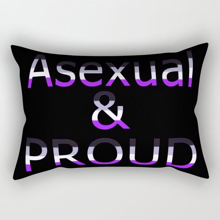 Asexual and Proud (black bg) Rectangular Pillow