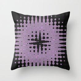 Melting Star Purple Throw Pillow