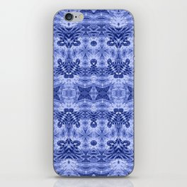 Blue and White Classic Psychedelic Subtle Print iPhone Skin
