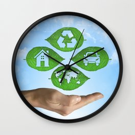 recycling eco concept Wall Clock
