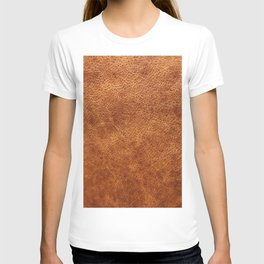 Brown vintage faux leather background T-shirt