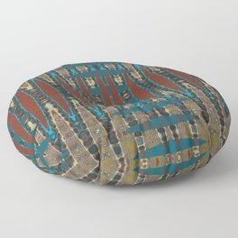 South Western Color Palette Mosaic Pattern Floor Pillow