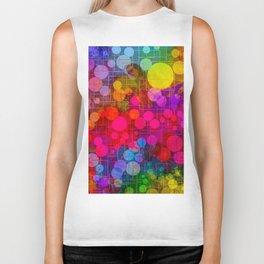 Rainbow Bubbles Abstract Design Biker Tank