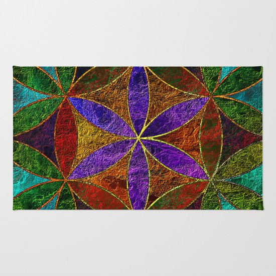 Charming The Flower Of Life (Sacred Geometry) 2 Rug