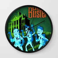 ghostbusters Wall Clocks featuring Hitchhiking Ghostbusters by Sam Carter AKA Cartarsauce
