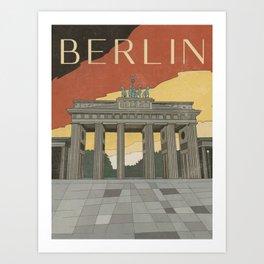 Berlin Vintage Travel Poster Art Print