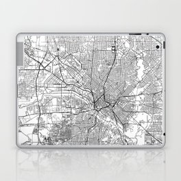 Dallas White Map Laptop & iPad Skin