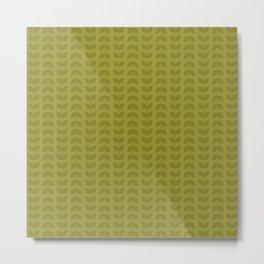 Golden Lime Leaves Metal Print