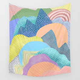 Modern Landscapes and Patterns Wall Tapestry