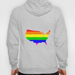 United States Gay Pride Flag Hoody