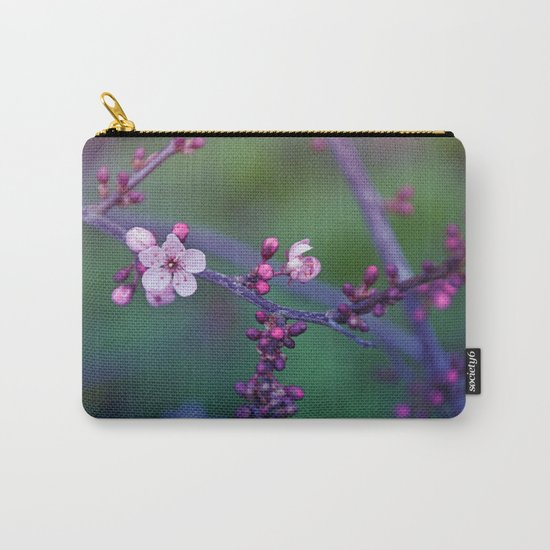 Dreamy purple Cherry Blossom Carry-All Pouch