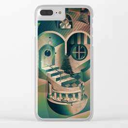 Utopia Skull 1 Clear iPhone Case