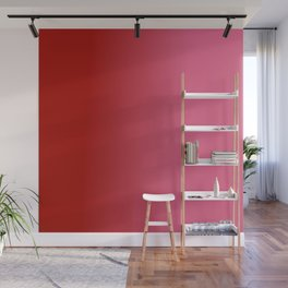 Ombre in Red Pink Wall Mural