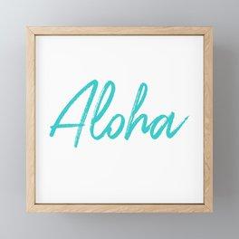 Aloha in Tropical Blue Framed Mini Art Print