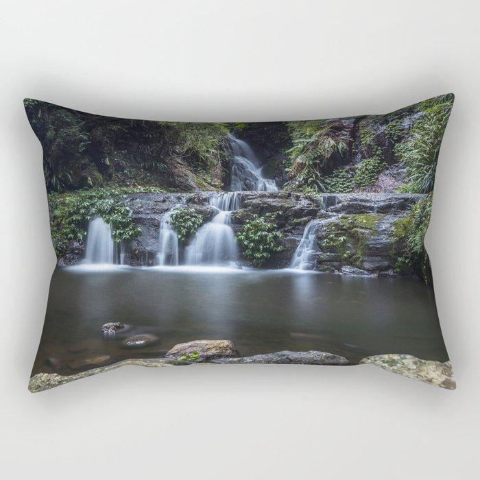 Elabana Falls in the Gold Coast Hinterlands Rectangular Pillow