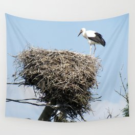 Stork on a Wire Wall Tapestry