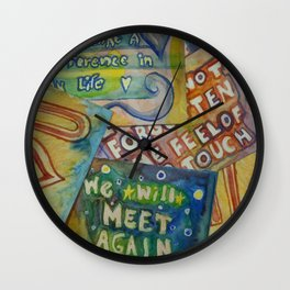 Quarantine Notes Wall Clock