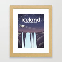 "Iceland "" For an adventure!' Framed Art Print"