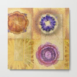 Seorita Weave Flower  ID:16165-024830-56081 Metal Print